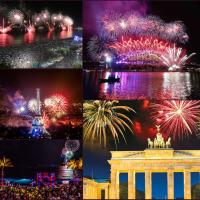 Celebrarea Anului Nou în orașele lumii